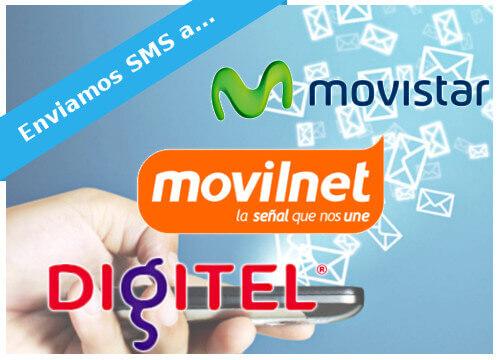 Envíamos SMS a Movistar, Movilnet y Digitel